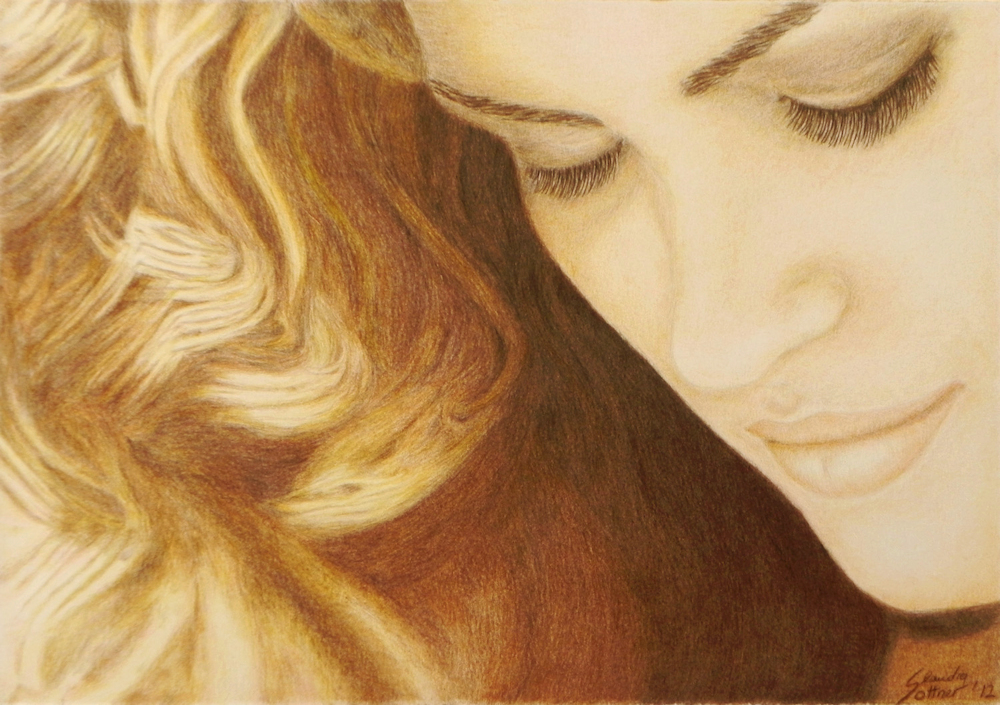 Gia, Colored Pencil Portrait, Farbstiftzeichnung
