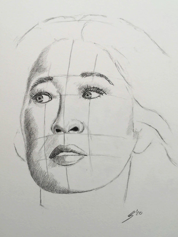 Sketch of Eve in Killing Eve