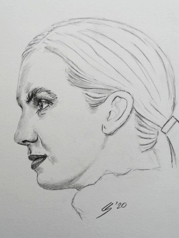 Gesicht von der Seite zeichnen